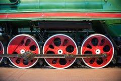Steam locomotive wheels Royalty Free Stock Photo