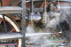 Steam locomotive wheels close up Royalty Free Stock Photo