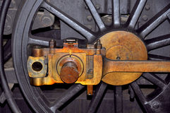Steam locomotive wheels. Detail of steam locomotive wheels Royalty Free Stock Image