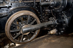 Steam locomotive wheels Stock Photos