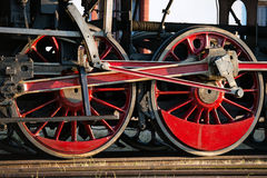Steam locomotive wheels Stock Images