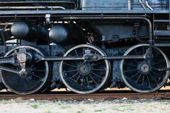 Steam locomotive wheels Royalty Free Stock Photography