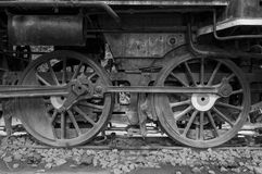 Steam locomotive wheels Stock Image