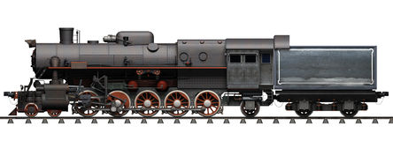 Steam locomotive. On a white background Royalty Free Stock Photography
