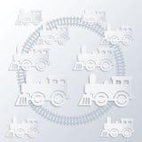 Steam locomotives. Stock Image