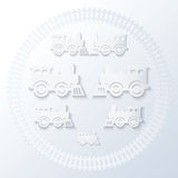 Steam locomotives. Stock Photography