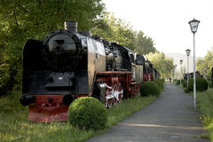 Steam locomotives museum Royalty Free Stock Photography