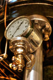 Steam machine (3). Antique industrial machinery in a technical museum Stock Image