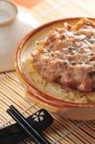 Steam mince pork rice Stock Photos