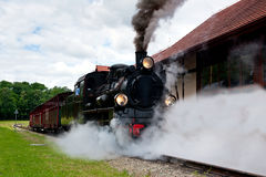 Steam narrow-gauge railway locomotive Stock Photography