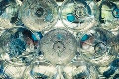 Steam in old plastic bottles Stock Image