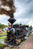 Steam old train, Cierny Balog, Slovakia Royalty Free Stock Images