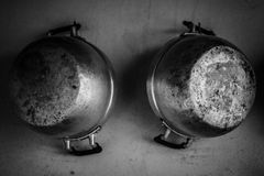 Steam over cooking pot. In kitchen Stock Images