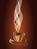 Steam over a cup of coffee. Vector EPS10 Stock Photography