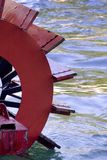 Steam paddle boat. On  lake Stock Photography