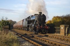 Steam passenger train Royalty Free Stock Images