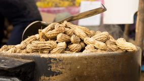 Steam peanuts. Peanuts are cooked by boiling Royalty Free Stock Photography