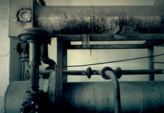 Steam pipes Royalty Free Stock Image