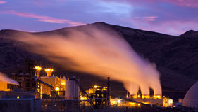 Steam Plant Dawn Stock Photo