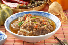 Steam pork spare rib Stock Images