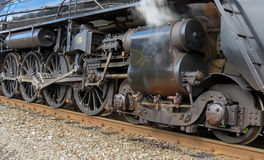 Steam Power. Ed Train main drive wheels and steam shaft Stock Images