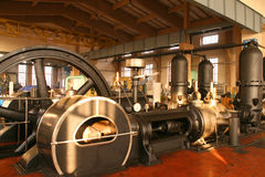 Steam powered pump Stock Photo