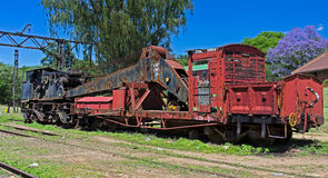Steam Powered Railway Crane Stock Photography