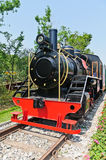 Steam powered railway train Stock Photos