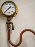 Steam pressure gauge Stock Image