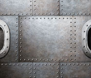 Steam punk abstract metal background Stock Photos