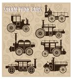 Steam-punk cars Royalty Free Stock Images
