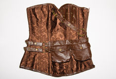 Steam Punk Corset Isolated On White Background Royalty Free Stock Image