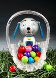 Steam Punk Dog and candies. Royalty Free Stock Photo