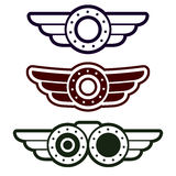 Steam punk emblem set Stock Images