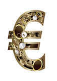 Steam punk euro Royalty Free Stock Photo