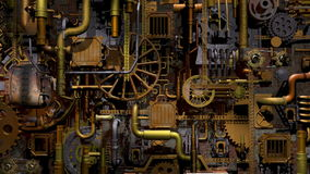 Steam-punk factory stock footage