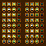 Steam punk game icons buttons icons, interface, ui Stock Image