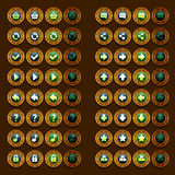 Steam punk game icons buttons icons, interface, ui Royalty Free Stock Photography