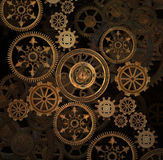 Steam punk gears background Stock Photos