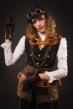Steam punk girl Royalty Free Stock Photos