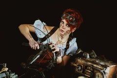 Steam-punk girl's portrait Royalty Free Stock Photo