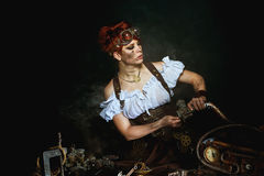 Steam-punk girl's portrait Royalty Free Stock Photography