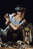 Steam-punk girl's portrait Royalty Free Stock Photos
