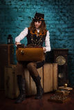 Steam punk girl Royalty Free Stock Image