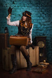Steam punk girl Stock Photo