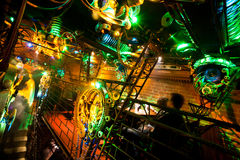 Steam-punk interior of underground club Stock Photo