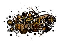 Steam punk isolated on white Royalty Free Stock Photo