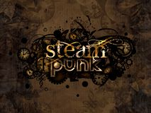 Steam punk logo background illustration Royalty Free Stock Image
