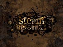 Steam punk logo background illustration. Steam punk logo background sign illustration Royalty Free Stock Image