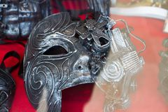 Antique steam punk mask stock photography
